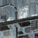"""detail, Smoke, 34"""" x 12"""", ink on paper"""