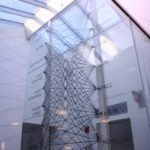 View of glass panels in atrium, photo Phyllis Bretholz