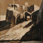 """Glacier, 2007,8/5"""" x 11"""", ink on paper"""