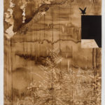 """Untitled 5, 59"""" x 82"""", walnut and sumi ink on paper, 2015"""