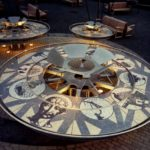 Kinetic sculpture for the South Boston Maritime Park, mosaic, steel and granite